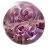 Glass Lamp Bead 20mm Round Crystal/Lilac